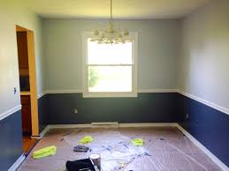 dining room two tone paint ideas and chair rail moldings great