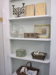 small bathroom shelf built in bathroom shelves home design ideas