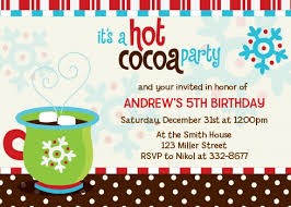 christmas invitations hot cocoa party christmas invitations candles and favors