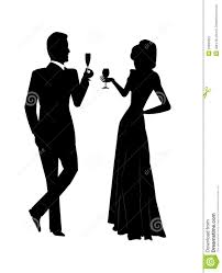 champagne silhouette holiday toast stock photography image 33995822
