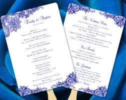 make your own wedding fan programs wedding fan program etsy