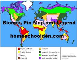 biomes map biomes pin map homeschool den