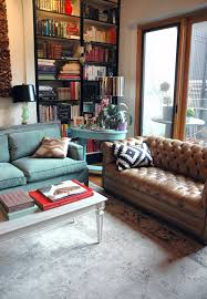 Leather Couch In Living Room by The Spectacular Living Space Of Decorator Jenny Komenda Of The