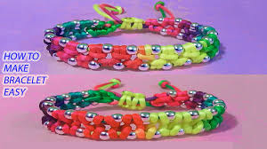 make bracelet with thread images How to make bracelets with string or thread and beads step by step jpg