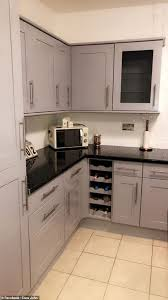 painting kitchen cabinets uk shares how she gave kitchen a sleek makeover