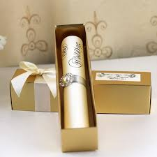 scroll invitations diy hi2052 scroll wedding invitation with golden box china mainland
