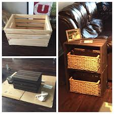 Patio End Table Plans Free by End Table Made From Home Depot Wine Crates My Pinterest Projects