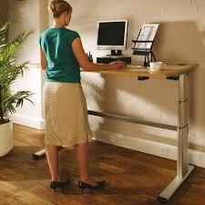 Used Sit Stand Desk by Posturite Deskrite 300 Sit Stand Writing Desk