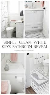 simple clean and white kids u0027 bathroom reveal so much better