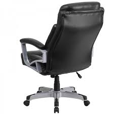 Black Leather Office Chairs Husky Office Heavy Duty 500 Lb Capacity Big U0026 Tall Black Leather