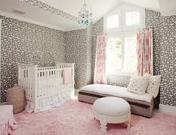 Pink And White Rug Pink And Gray Nursery Transitional Nursery The Brooklyn Home