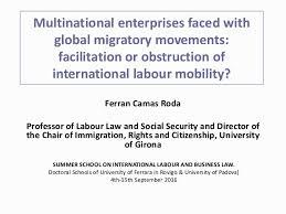 Universities As Multinational Enterprises The Multinational Multinational Enterprises Faced With Global Migratory Movements