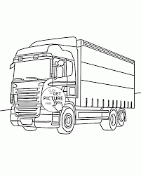 nice box truck coloring page for kids transportation coloring