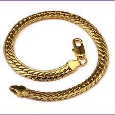 mens gold hand bracelet images Fashion wide flat gold hand chain bracelet for men in hip hop jpg