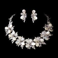 bridal pearl necklace sets images Gorgeous cz pearl bridal necklace set elegant bridal hair jpg