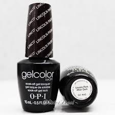 opi gelcolor lincoln park after dark uv led polish free