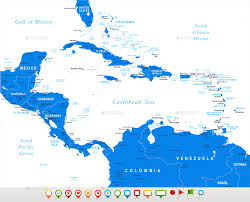 Map Centro America by Central America Map And Set With Navigation Icons By Dikobrazik