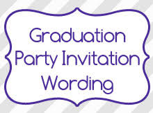 themes classic graduation invitation wording samples with
