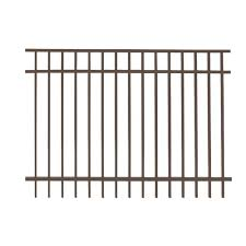 black metal fence panels metal fencing the home depot