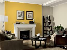 bedroom yellow walls