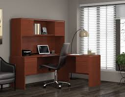 Home Computer Desk With Hutch by Furniture Good Home Office Ideas With Wooden L Shaped Desk With