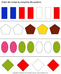free worksheets pattern coloring worksheets for kindergarten