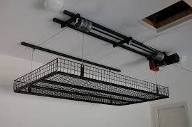 diy garage ceiling storage lift home design ideas