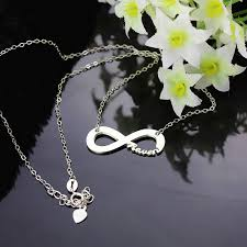 name necklace silver jewelry images Sterling silver infinity name necklace jpg