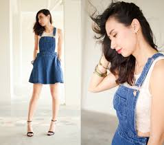 diy denim overall dress more sewing pinterest diy clothes