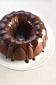 this chocolate bundt cake with a chocolate espresso glaze has a