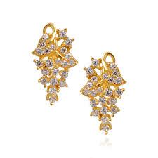 images of earrings in gold earrings 22kt sterling white studded gold earrings grt
