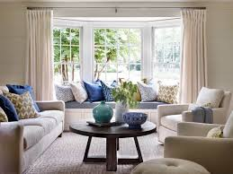 bright living room with built in window seat and blue accents featured image of bright living room with built in window seat and blue accents