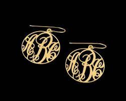 Gold Monogram Earrings 139 Best Monogram Love Images On Pinterest Monograms Tank Tops