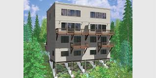 modern town house plans duplex house plans sloping lot plans