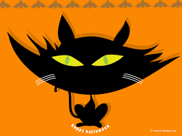 halloween abstract halloween desktop wallpaper cat and bats by sl designs