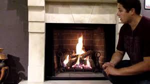 gd80 napoleon madison gas fireplace log set burn video product