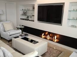 great living room design with grey sofa and stylish wall