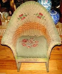 White Childs Rocking Chair Child Size Wicker Rocking Chair Childs White Wicker Rocking Chair
