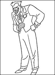 printable batman joker coloring pages color zini