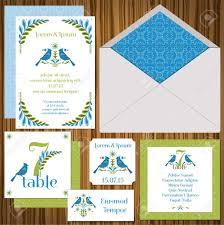 Weeding Invitation Card Wedding Invitation Card Set Vintage Birds Invitation Table