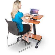 Mobile Computer Desk Up Rite Workstation Mobile Adjustable Sit And Stand Desk