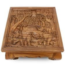 Wohnzimmertisch Uhr Couchtisch Wohnzimmertisch Glastisch Massiv Holz Elefanten Tisch