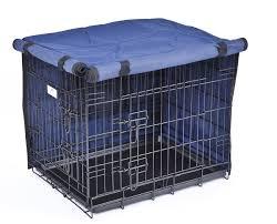 Dog Crate Covers Dog Crate Covers Waterproof Navy Blue 2 Door