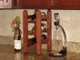 cherry wood countertop wine rack nice countertop wine rack