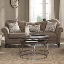 Traditional Sofas Living Room Furniture by Traditional Sofa With Tufted Reverse Camel Back By Coaster Wolf