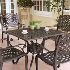 Cast Aluminium Garden Table And Chairs Darlee Nassau 5 Piece Cast Aluminum Patio Dining Set With Square