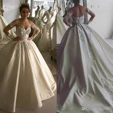 cheap lace ball gown wedding dresses 2017 fall plus size bridal