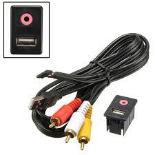 Usb Port For Car Dash Aliexpress Com Buy New 3 5mm 3 Rca Car Aux Usb Male Dash Flush