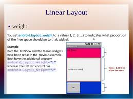 android layout weight attribute layouts in android