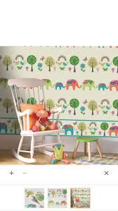 13 best wallpaper images on pinterest children wallpaper paste the wallpaper elephants trees multicolour children s wallpaper image 2